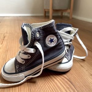 Converse All Star blue high tops SIZE 4
